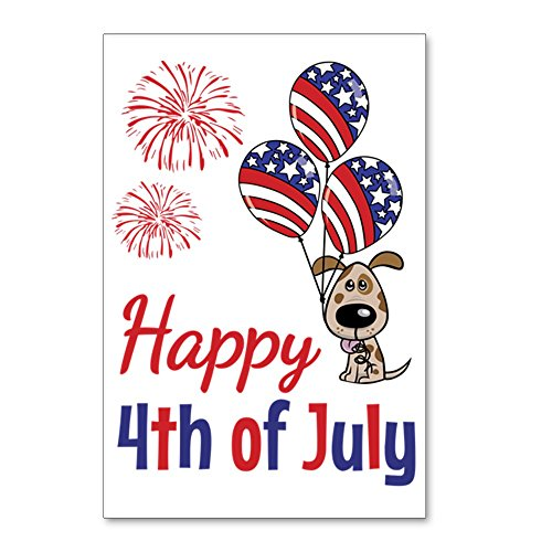 - CafePress - Happy 4Th Doggy With Ball - Postcards (Package of 8), 6