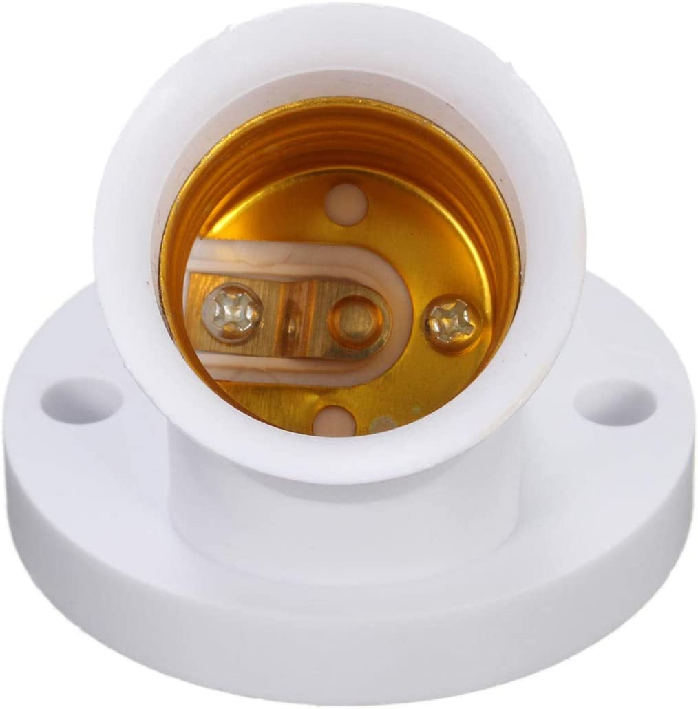 C.W.USJ LED Light E27 Lamp Base Bulb Holder Converter Socket Adapter Switch AC220V 4A