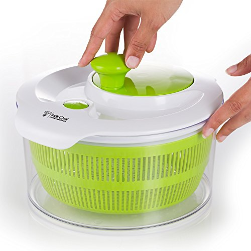 Salad Spinner with Large 5.0 Quart Bowl, Storage Lid and Lettuce Knife (Centrifuge Cups compare prices)