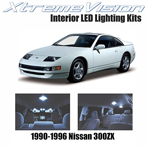 XtremeVision Nissan 300ZX 1990-1996 (3 Pieces) Cool White Premium Interior LED Kit Package + Installation Tool