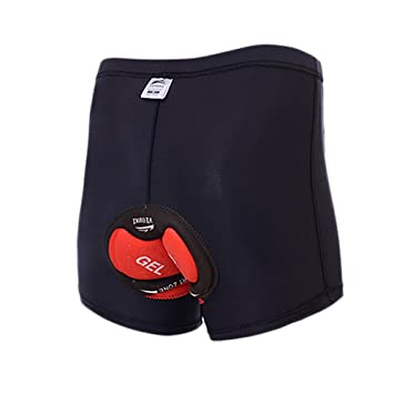 Herren Damen Unisex Shorts Fahrrad Unterhose Schwamm Gel Silikon Gepolstert