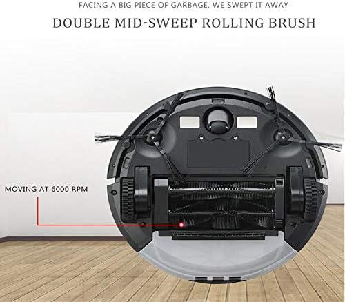 DUKKL Robot De Balayage, Chargement Automatique, Double Brosse De Balayage, Aspirateur, Robot De Balayage, Automatique Intelligent