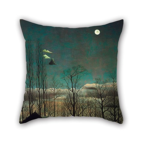 Bestseason Oil Painting Henri-Julien-FÃlix Rousseau, French - Carnival Evening Throw Pillow Covers 20 X 20 Inches / 50 By 50 Cm Gift Or Decor For Her,teens Girls,birthday,kids Room,dinning Room -