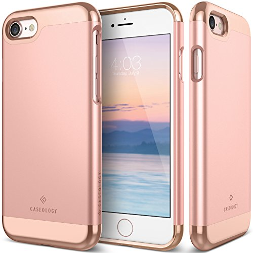 Caseology Savoy Series iPhone 8/7 Cover Case Stylish Design Glide Protective Apple iPhone 7 (2016) / iPhone 8 (2017) - Rose Gold by Caseology