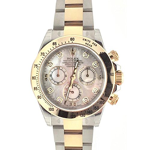 - Rolex Cosmograph Daytona 40 Mother of Pearl Diamond Dial Gold Bracelet Watch 116503