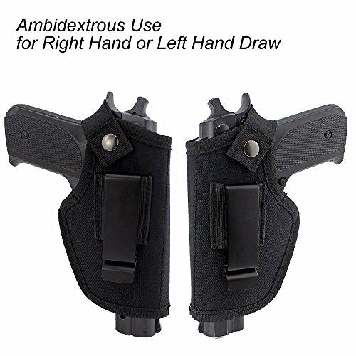 Gexgune Étuis de Ceinture cachés pour la Chasse Sac de Pistolet Tactique Ceinture IWB OWB Gun Holster s'adapte aux sous… 4