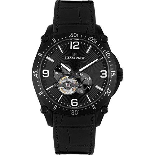 Pierre Petit Men's P-803A Serie Le Mans Automatic Skeleton Genuine Leather Watch