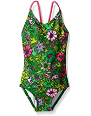 Kanu Surf Girls' Karlie Flower One Piece Swimsuit