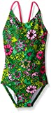 Kanu Surf Little Girls' Chloe Beach Sport 1-Piece Swimsuit, Karlie Floral Green, 5