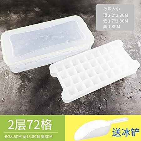 Compra QZXCD Cubitos de Hielo de Hielo de Verano Caja de Cubitos de Hielo casera Hielo esférica paletas heladas artefacto con Tapa Molde de Helado hogar Comercial Creativo C en Amazon.es