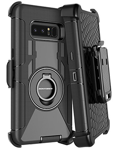 Price comparison product image Samsung Note 8 Case, Galaxy Note 8 Case Belt Clip, BENTOBEN Heavy Duty Shockproof Kickstand Swivel Belt Clip Full Body Rugged Bumper Hybrid Holster Protective Case for Samsung Galaxy Note 8, Black