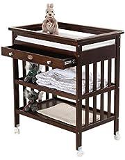 Ali@ pasgeboren baby veranderen tafel, massief hout met lade wiel multifunctionele zorg aanraken massage douche stand, belasting 30 kg