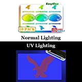 10 x Adhesive Holographic Overlay for Standard Size ID Cards | 9 Eagles Design with UV Eagle