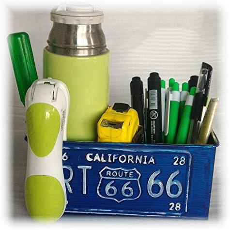 Monbedos Pot /à crayons moderne en fer de style industriel simple et moderne pour d/écoration de la maison et fournitures de bureau