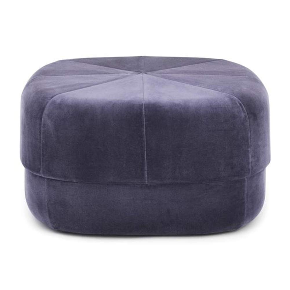 Purple 6035cm ZHAOYONGLI Footstools,Otools Porto Brushed Suede Drum Pouffe - Luxury Cylindrical Footstool - Round Footrests (color   Purple, Size   40  40 cm)