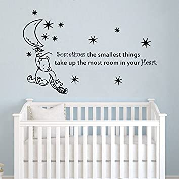 Wall Decals Quotes Winnie the Pooh Quote - Sometimes the smallest things - Moon Stars Kids  sc 1 st  Amazon.com & Amazon.com: Wall Decals Quotes Winnie the Pooh Quote - Sometimes the ...