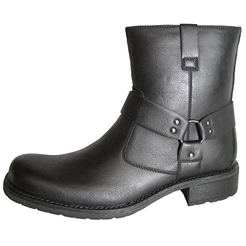 [Kenneth Cole Unlisted Mens Cop-per Coin Harness Boots, Black, US 8] (Mens Boots For Sale)