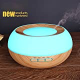 XDOBO Ultrasonic Essential Oil Diffuser Humidifier 7 LED Color lights,300ml Aroma Wood Grain Cool Mist Air Cleaner,4 Timer Settings,Waterless Auto off Air Purifiers, Aromatherapy and Whisper-Quiet