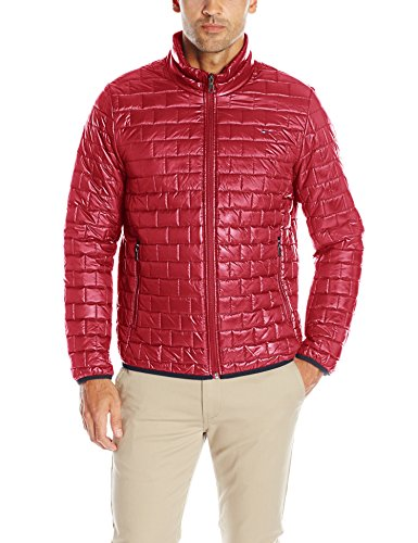 Tommy Hilfiger Men's Ultra Loft Quilted Packable Jacket, Red, L Box Quilted Jacket