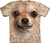 The Mountain Men's Chihuahua Face T-shirt, Tan, Large