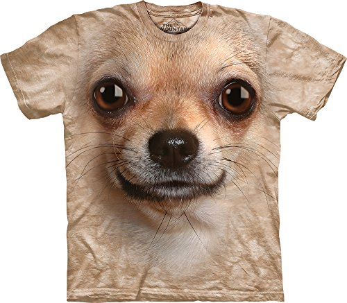 The Mountain Kids Chihuahua Face T-Shirt, X-Large, Sand (Chihuahua Face T-shirt)