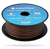 InstallGear 8 Gauge Black 50ft Power/Ground Wire True Spec and Soft Touch Cable on Spool
