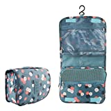 Portable Toiletry Bag Multi-use Makeup Cosmetic Bag Holder Travel Hanging Organizer Bag with Hanging Hook for Women and Girls Waterproof
