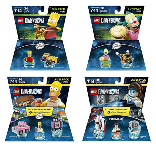 The Simpsons Homer + Bart + Krusty + Portal 2 Level and Fun Packs - Lego Dimensions (Non Machine Specific) ()