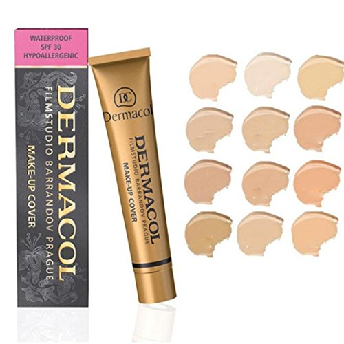 Kizaen Professional Foundation Makeup Hypoallergenic Waterproof SPF 30 Cream Concealer