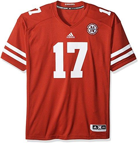 adidas NCAA Nebraska Huskers Adult Men Premier Football Jersey, Medium, Power Red