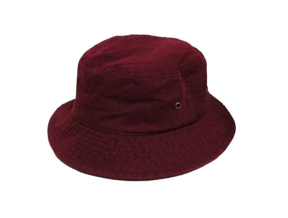 Easy-W Burgundy 100% Cotton Hat Cap Bucket Boonie Unisex