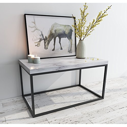Roomfitters Marble Print Top Coffee Table Living Room Essent