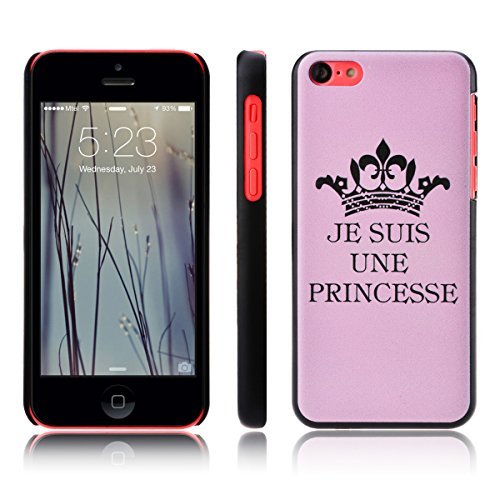 SmartLegend Etui Coque PC Slim pour Apple iPhone 5C Mode Flexible Souple Hard Case Couverture Dur Rigide Strass Housse Protection Anti-rayures Mince Légère Cover Fashion Fin - JE SUIS UNE PRINCESSE