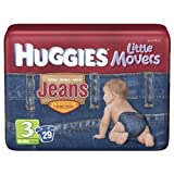 Huggies Little Movers Jean Diapers size 3, 29 count by Huggies