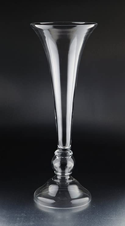Amazon New 28 Hand Blown Art Glass Footed Vase Clear
