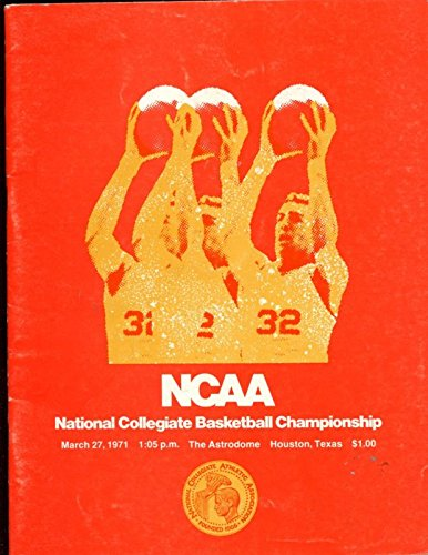 1971 Ncaa Basketball (1971 NCAA Basketball Final 4 Program UCLA / Villanova W. Kentucky/ Kentucky EX)