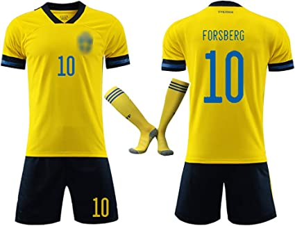 Gelb ALL-10 Schweden WM 2018 T-Shirt Fu/ßball Trikot S M L XL XXL