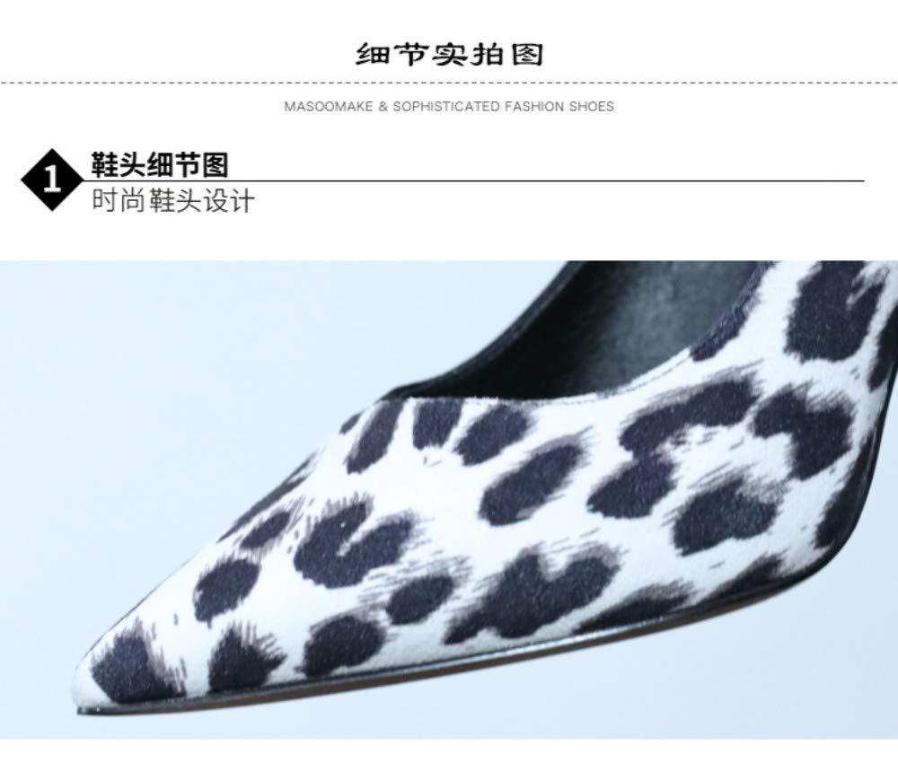 ZZDSH Spitze Flachen Mund Einzelne Einzelne Einzelne Schuhe Mode High Heel Frauen Frühling Stiletto Schuhe, 39 06ae4d
