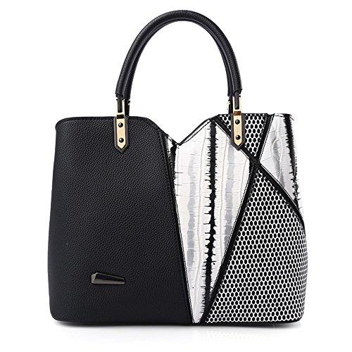 Tracolla Donne Nero Borse Bianca Cucire Moda Bag A Delle Xuanbao Tracolla Nero colore Borsa WUqfz1F