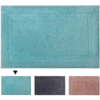 Amazon Com Super Soft Microfiber Shag Bathroom Rugs