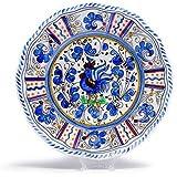 Le Cadeaux Rooster Blue - Melamine Salad Plates - Set of 8