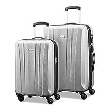 Samsonite 91822-1776 Pulse DLX Lightweight 2-Piece Hardside Luggage Set, Silver, Checked – Medium