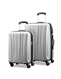 Samsonite 91822-1776 Pulse DLX Lightweight 2-Piece Hardside Luggage Set, Silver, Checked – Medium