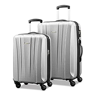 Samsonite 91823-1776 Pulse DLX Lightweight 2-Piece Hardside Luggage Set, Silver, Checked - Large (B071CF83Q1) | Amazon price tracker / tracking, Amazon price history charts, Amazon price watches, Amazon price drop alerts