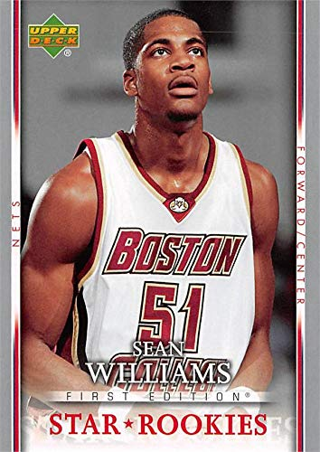 Boston College Eagles Authentic Basketball - Sean Williams basketball card (Boston College Eagles) 2007 Upper Deck Star Rookies #217