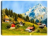 Home on the Moutain Side -Outdoor Wall Art - Weatherprint - Weatherproof Art for Indoor or Outdoor Canvas Art