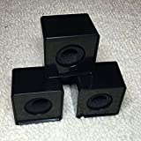 ABS Mic Microphone Interview Square Cube Logo Flag Station 39mm Hole (Black)