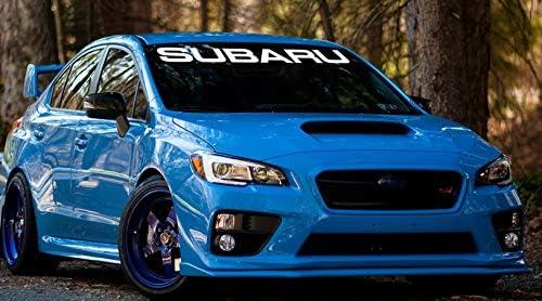 "STI SUBARU Car Window Windshield Carbon Fiber Vinyl Banner Decal Sticker 51/"""