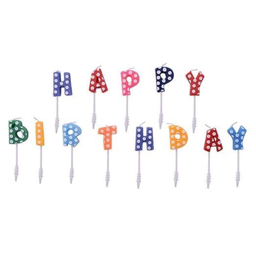 AQNPYR Feliz cumpleaños Carta Pastel Velas Preciosas Velas ...