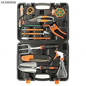 Pathonor garden tool set 12 piece garden for Garden tool set for women